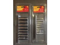 Deep socket sets - 3/8 and 1/4