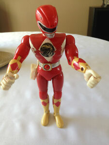 VINTAGE 1993 8 inch Red POWER RANGER Jason Lee Figure by Bandai