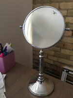 Silver Vanity Mirror (2-Sided)