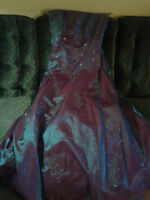 Ball Gown Dress: Purple/Blue Iridescent
