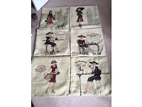 Six Tapestry Effect Cushion Covers