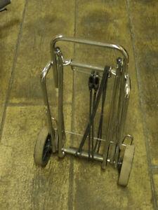 Folding wheeled luggage cart