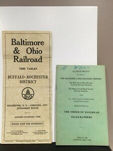 Old paper railroad time tables Buffalo-rochester Peterborough Peterborough Area image 1