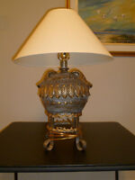 Lamp with decorative base