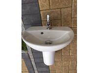 Mira Kohler semi-ped basin with tap