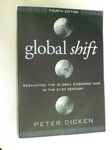 Global Shift - 4th. edition -  by Peter Dicken  - USED  +  gift