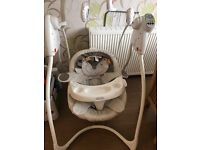 Immaculate graco baby swing