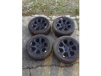 Saxo VTR alloys in black 185/55R14 108 PCD