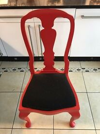 Single Solid Red Chair