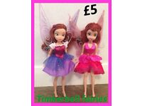 2 Tinkerbelle Fairy Dolls