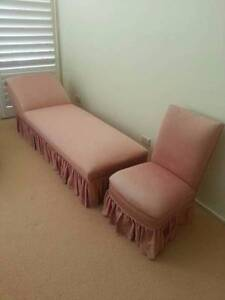 Antique Chaise Lounge and matching chair Seaforth Manly Area Preview
