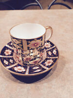 2 Royal Crown Derby demitasse cups and saucers pattern 2541
