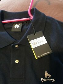 Brand New - Mens 'MONEY' polo shirt with tags - Large