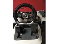 X Box 360 steering wheel set