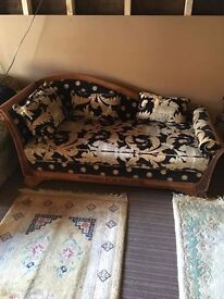 CHAISE LONG BEAUTIFUL BLACK AND GOLD