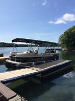 2013 Lowe SS 210 Pontoon boat, 115 hp, trailer included