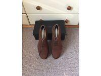 Mens Shoes Samuel Windsor Handmade Brown Suede Brogues