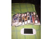 PSP +charger+9 games