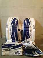 Brian's S Series 29+1 goalie pads plus blocker and glove