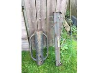 Fence Post Chapper & Fence Puller Tensioner plus roll of fencing & barbwire!