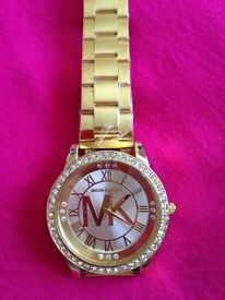 Brand new MK watch gold colour