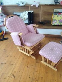 ROCKING CHAIR AND STOOL FOR SALE