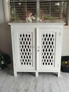 Rustic Latticework 'Armoire' - Storage/Buffet/TV Stand Primrose Sands Sorell Area Preview