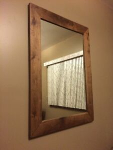 Handcrafted Black Walnut Mirror
