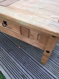 Pine unit Mexican pine solid timber television unit side table coffee table etc