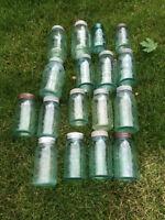 Aqua Canning Jars
