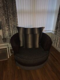 Swivel chair and 3 seater sofa