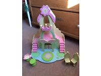 Wooden fairy dolls house