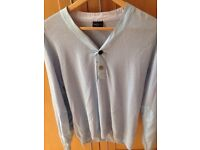 Paul Smith pale blue knitted top, size XL.