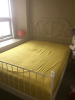 SALE! URGENT! QUEEN SIZE BED WITH PERFECT MATTRESS SET