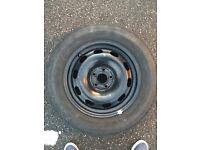 "Golf mk4 15"" spare steel wheel tyre 195 65 15"