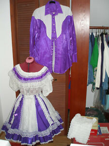 Matching his and her square dancing outfits Prince George British Columbia image 1