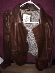 BROWN FAUX LEATHER JACKET  London Ontario image 1