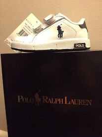 Polo Ralph Lauren Infant - ToddlerTrainers size 4 (Brand New)