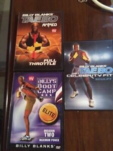 Billy Blanks workout disks/ tapes