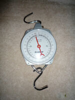 Fishing scales with weighing mesh bag