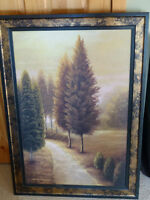 Canvas picture in frame