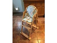 East Coast Highchair and Insert