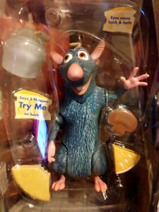 "BRAND NEW: PIXAR DISNEY RATATOUILLE DELUXE TALKING REMY SET (8"")"