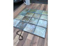 Pietre Dorate Oro Verde 9.5x9.5cm Wall Tile (£5 per sqm)