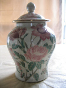DECORATIVE CERAMIC GINGER JAR-10""