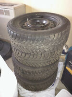4 Goodyear UltraGrip Ice Winter tires/rims with Ford TPMS