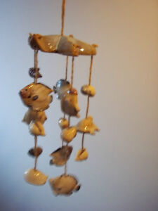 Song of the Sea Ceramic Sea Shell & Fish Windchime.