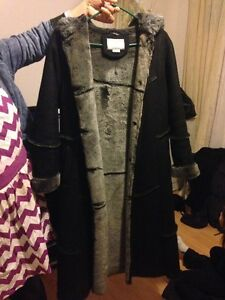 Women's long suede coat size small