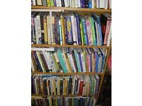 NON-FICTION BOOKS NEW (820) WITH 4 OAK EFFECT BOOK CASES