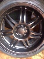 CoreRacing alloy rims 4 bolts pattern p215/40 r17